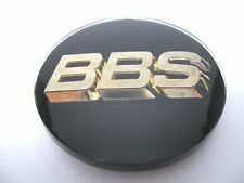 BBS RZ RS RM LM 70.6mm 3-D Gold +Black 3-tab Wheel Center Cap Emblem *AUTHENTIC*