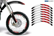 Rim Trim Kit For Honda CR CRF CRM XR GROM MX Dirt Bike Decals Racing Stickers M