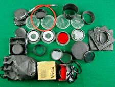 BIG JOB LOT of vintage CAMERA LENS FILTERS and other camera accessories.USED.