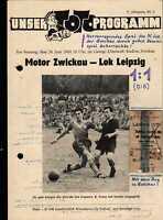 OL 1960 Motor Zwickau - Lok Leipzig, 26.06.1960 mit Zugfahrkarte