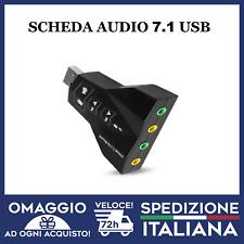 Scheda Audio Usb 7.1 Canali Esterna 3d Souno Adattatore Pc Notebook Card 🇮🇹Ita