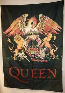 "Queen Crest Freddie Mercury Cloth Fabric Poster Flag Banner 30"" x 40"" New"