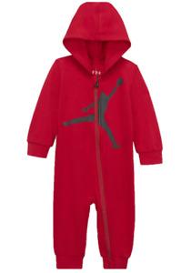 Nike Air Jordan Jumpman Baby Boys Full Zip Coverall Size 9 Months Red FREE SHIP!