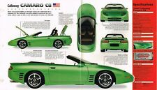 Chevy CALLAWAY CAMARO C8 / C-8 SPEC SHEET/Brochure:1994,1995,1996
