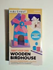 Make It Mine Paint Your Own Wooden Birdhouse Craft Kit Ages 6+ * New