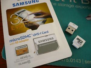 Samsung 32GB Micro microSDHC w USB reader for Sony CyberShot H55 S2000 TX5 W310