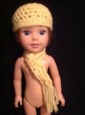 Fit Wellie Wishers yellow scarf/hat beanie American Girl 14 doll clothes outfit