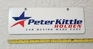 Original Peter Kittle Holden Dealership Self Advertising Number Plate Cover