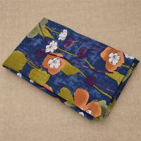 1Pc Cotton Seersucker Floral Pattern Fabric DIY Sewing Supplies 100x145cm