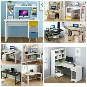 80CM/100CM PC Computer Desk Writing Study Shelve Table Office Home Workstation