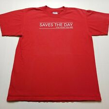 Saves The Day 2001 Stay What You Are T-Shirt Mens M Rock Band Red 00s U51