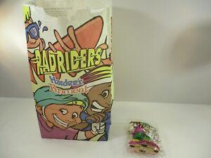 1996 Radriders Toy Kids Meal Rollerblader Toy Original Hardees Bag