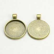 5pcs Antique Bronze Pendant Cabochon Base Settings DIY Findings for Jewelry