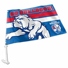 Licensed AFL Western Bulldogs CAR Flag includes Pole Fathers Day Gift Sale