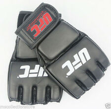 UsP002A UFC MMA Boxing Half Finger Cuff Leather Professional Fight Gloves