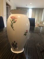 """Tiffany & Co. 10.5"""" White Sintra Spring Floral Vase Made in Portugal Large"""
