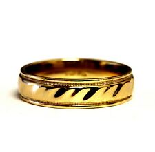 14k yellow gold mens 6mm comfort fit wedding band ring 6.8g gents vintage