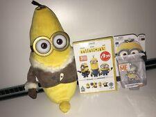 """Cattivissimo Me Minion Bundle-DVD, Banana 13"""" peluche giocattolo, cantante Figura"""