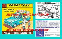 Corgi Toys 447 Walls Ice Cream Van Instruction Leaflet Poster Shop Display Sign