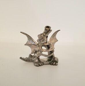 """Vintage Miniature Pewter """"Dragon"""" Incense Burner!"""