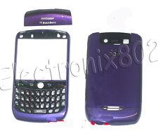 For Blackberry Curve 8900 Fascia Housing Case Keypad Battery Cover Dark Purple