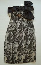 MK One Ladies Size 8 Sleeveless and Strapless Party Dress With Bow in Front