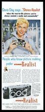 1953 Stereo Realist 3D 3-D camera Doris Day photo vintage print ad