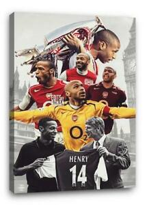 THIERRY HENRY ARSENAL BB1 CANVAS Wall Art Poster Photo Print 30x20 CANVAS