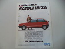 advertising Pubblicità 1990 SEAT IBIZA CRONO
