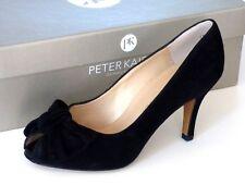 Peter Kaiser Womens Samos Peep Toe High Heel, Black Suede UK Size 3