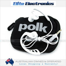 POLK AUDIO ULTRAFIT 3000 WHITE IN EAR HEADPHONES MICROPHONE IPOD IPHONE 4 4S 5