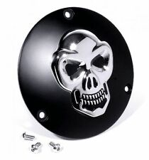 3D Kupplungsdeckel für Harley Evo Totenkopf Derbycover Schwarz