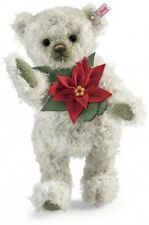 STEIFF Navidad Poinsettia Oso De Peluche Articulado Ltd Edt Nuevo Regalo Ideal 035463