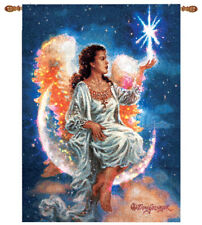 The Christmas Star ~ Angel Fiber Optic Tapestry Wall Hanging ~ by Dona Gelsinger