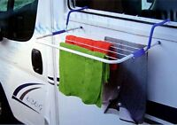CLOTHES AIRER DRYER HOOKS ON CARAVAN CAMPER WINDOW LIGHTWEIGHT EASY TO USE