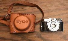 1950s MYCRO IIIA Camera Miniature Spy Camera with Original Leather Case JAPAN