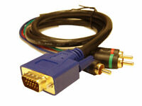 25 ft SVGA to RGB Cable HDTV VGA to Component 25' Foot Video Converter/Adapter