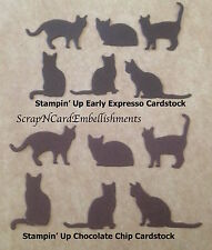 • • • Die Cuts ~ CATS...6 Shapes ~ Choc ~ Stampin Up C/S  Cards  Scrapbooking