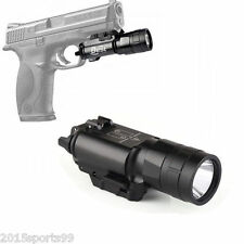 Pistol/Rifle LED Flashlight Quick Release Mount Picatinny Weaver Rail 500 Lumen