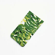 GREEN JUNGLE PALM  WATERPROOF FABRIC SUNGLASSES GLASSES CASE POUCH IPHONE 6/ 7