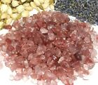 Strawberry Quartz Mini Gemstone Chips Candlemaking Orgonite Roller Crystals