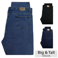Big & Tall Men's Denim Jeans Fixed Waist 44 - 66 Relaxed Fit by Full Blue