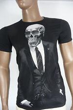 Herren T-Shirt BLACKROCK Skull Totenkopf Vintage Sommer Kurzarm schwarz Gr. S