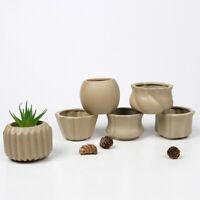 Ceramic Round Flower Pot Succulent Nursery Planter Bonsai Garden Home Decor Box