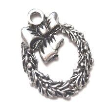 10 pieces 12x16mm Tibetan Silver Christmas Ring Alloy Charm Pendants - A2342