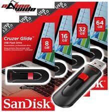 SanDisk 16GB 32G 64GB 128G CRUZER GLIDE USB 2.0 Flash Memory Pen Drive Stick Lot