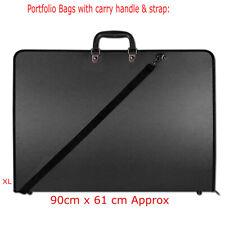 A1 BLACK WATER PROOF DESIGN PORTFOLIO CASE ART WORK PAINTING FOLDER BAG