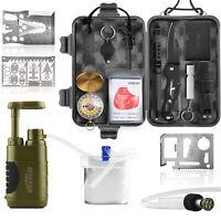 Wild Peak PREPARE-1 Survival Kit with Water Pump & 3 Multi-tools for Emergency