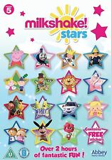 Milkshake Stars DVD - Channel 5 Childrens Peppa Pig, Fireman Sam, Thomas **NEW**