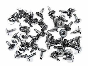 "Toyota Chrome Self Tap #8 x 1/2"" Phillips Washer Head Trim Screws- Qty.50- #230F"